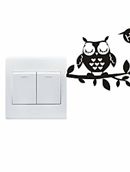 AYA™ DIY Wall Stickers Wall Decals, Lovely Funny Owl Pattern Light Switch Stickers