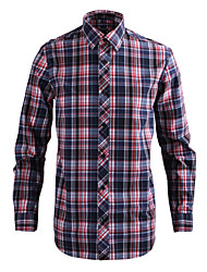 JamesEarl Herren Hemdkragen Lange Ärmel Shirt & Bluse Rot - MB1XC000401