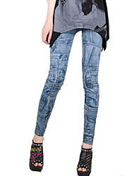 Brand Fashion Women Denim Legging,Polyester Medium Seamless leggings