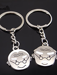 A Pair Romantic Old Couple Forever Love Unique Design Keychain  KeyRing Keys Holder Valentine's Day Gifts Newest