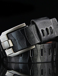 Men Faux Leather Waist Belt,Vintage / Work Alloy