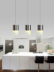 3 Lights Pendant Lights LED / Bulb Included Modern/Contemporary Dining Room / Kitchen Metal