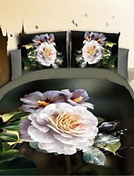 3D(random pattern) Poly/Cotton 4 Piece Duvet Cover Sets