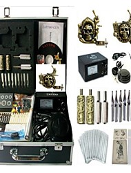 Basekey Tattoo Kit K0102 2Guns Machine With Power Supply Grips Cleaning Brush Needles