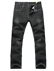 Lesmart Men's Jeans / Straight Pants Black - MDMK3251