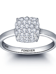 Personalized Promise 925 Sterling Silver CZ Stone Wedding Party Ring For Women