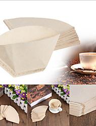 40pcs / lot papier filtre à café pour 101 café filtre à café versé goutte à goutte à la main tasse