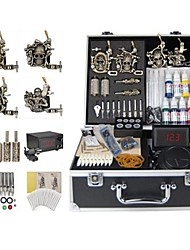 Basekey Tattoo Kit 4 Machines JHK0184  Machine With Power Supply Grips Cleaning Brush Ink Needles
