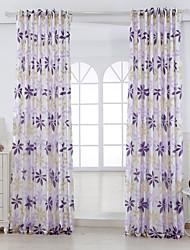 Deux Panneaux Le traitement de fenêtre Rustique Salle de séjour Mélange Poly/Coton Matériel Rideaux Tentures Décoration d'intérieur For