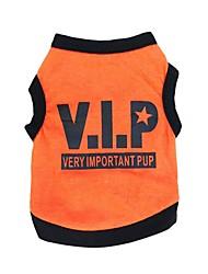 Gatos / Perros Camiseta Negro / Amarillo / Naranja Verano Flores / Botánica Moda, Dog Clothes / Dog Clothing-Pething®