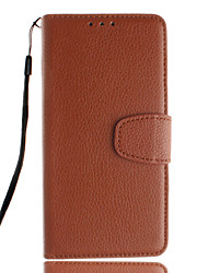For Samsung Galaxy Case Card Holder / with Stand / Flip Case Full Body Case Solid Color PU Leather SamsungTrend Duos / Grand Prime / E5 /