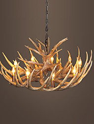 vintage Antler chandelier lighting Industrial Fixture Country 9-Lights Fit for Living Room Dining room Easy Installation