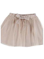 Girl's Casual/Daily Skirt,Silk / Polyester Summer Pink / Gray