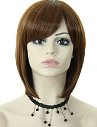 Popular Lady Dark Brown Color Short Synthetic Hair