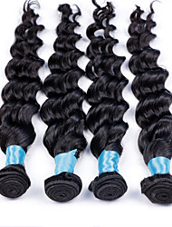 "3Pcs/Lot 8""-30"" Brazilian Virgin Hair Loose Wave Brazilian Human Hair Weaves Good Quality Tangle Free Color 1B"