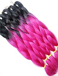 1 strand tranças de caixa roxa extensões de cabelo jumbo 24inch kanekalon 80-100g / pc gram trevas do cabelo