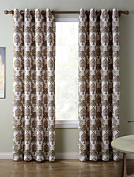 Chadmade SOFITEL Heat Transfer Print Classic Traditional - Nickle Grommet - Tan
