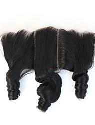 Ondulé Cheveux humains Fermeture Brun roux gramme Cap Taille