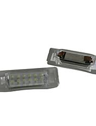 2ST ben-z führte W202 W210 Kfz-Kennzeichenlampe 12V 14W LED mit speziellen führte decorder