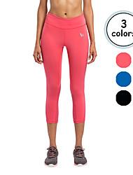 Vansydical Per donna Asciugatura rapida Yoga Pantaloni Rosso / Nero / Blu