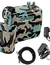 OPHIR NEW Mini Air Compressor Battery Airbrush Set for Cake Tattoo Makeup Nail Art Hobby
