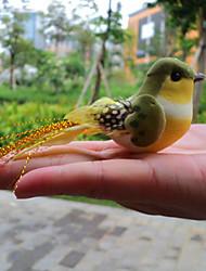 Feathered Bird Fridge Magnet Memo Sticker Home Garden Oranments (Random Color)
