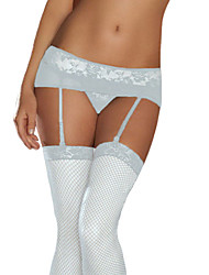 Lace Mesh Garters With G-String
