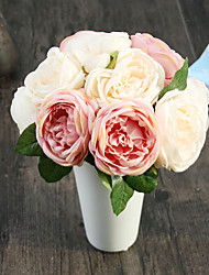 rosas de seda flores artificiais flores do casamento 1pc / set