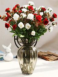 Silk Roses Artificial Flowers Wedding Flowers Multicolor Optional 1pc/set