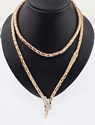 Necklace Vintage Necklaces Jewelry Wedding / Party / Daily / Casual Imitation Pearl / Gold Plated Gold 1pc Gift