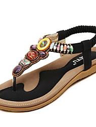 Women's Shoes Suede Vintage Bohemian Style Beach Flipflop Flat Heel Comfort / Open Toe Sandals Outdoor / Casual