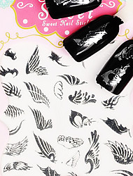 Feather Metal Silver Lovely 3D Nail Sticker