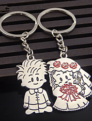 A Pair Valentine's day Gift Bride and Groom Wedding Love Couple Key Chain For Lovers