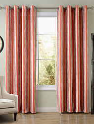 Chadmade SOFITEL Vertical Stripe  Pattern - Nickle Grommet - Orange
