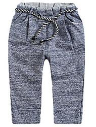Pantalones Chica de-Todas las Temporadas-Algodón-Azul