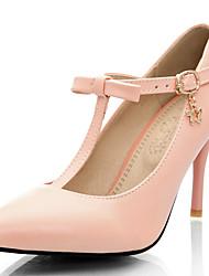 Синий / Розовый / Фиолетовый-Женская обувь-Для праздника / Для вечеринки / ужина-Дерматин-На шпильке-На каблуках / С Т-образной