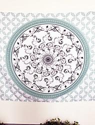 Webfaser Grün,Bedruckt Geometrisch 100% Polyester Decken 140cmx210cm