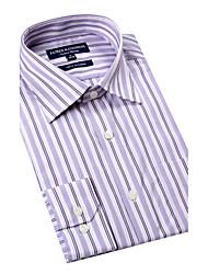 JamesEarl Herren Hemdkragen Lange Ärmel Shirt & Bluse Lila-K31Z2000218