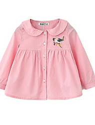 Girl's Shirt,Cotton Spring / Fall Pink / White