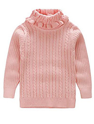 Girl's Tee / Sweater & Cardigan,Cotton Winter Pink / White / Yellow
