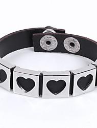 COOL Men's Punk Fashion Bracelet Genuine Leather