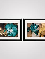 Abstrato / Floral/Botânico / Natureza Morta / Feriado / Lazer Impressão de Arte Emoldurada / Quadros Emoldurados / Conjunto Emoldurado