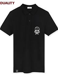 Trenduality® Hommes Col Arrondi Manche Courtes T-shirt Noir-43041