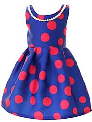 Girl's Black / Blue Dress Cotton Summer / Spring
