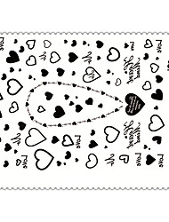 5PCS Fashion Love Body Art Waterproof Temporary Tattoos Sexy Tattoo Stickers (Size: 3.74'' by 5.71'')