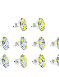 3w gu4 (mr11) projecteur led mr11 12 smd 5730 250 lm chaud / froid blanc dc12v 10 pcs