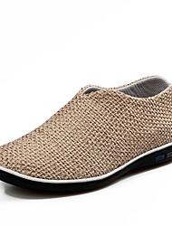Коричневый / Бежевый / Миндальный Мужская обувь На каждый день PU Лоферы