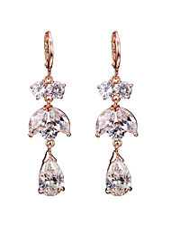 18k Gold AAA Zircon Drop Earrings JewelryImitation Diamond Birthstone