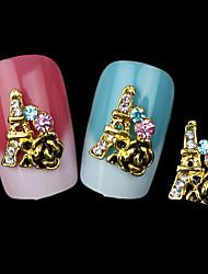 прекрасные ювелирные изделия умственная роза ногтей (5 шт)