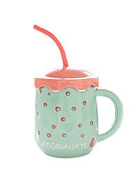 Creative Cute Guavas Style Drinking Straw Ceramic Mug Cup